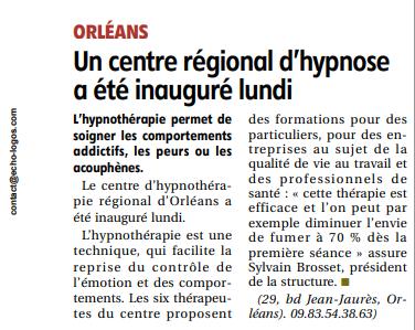 Inauguration médecins centre hypnothérapie régional d'orléans
