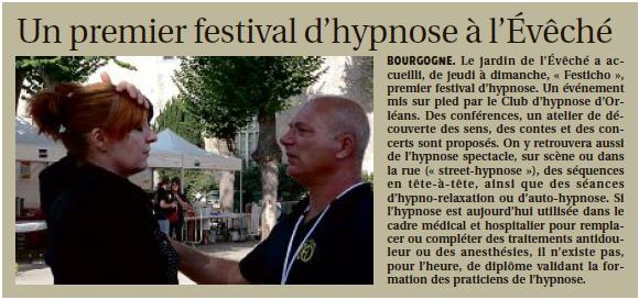 un premier festival d'hypnose a l eveche